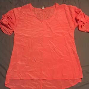 Old Navy bright coral / pink top